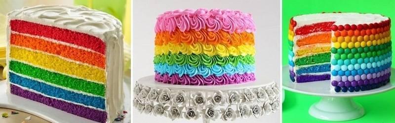 Радужные торты выглядят необычайно эффектно