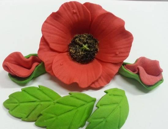 Сахарный мак, окрашенный цветочной пыльцой