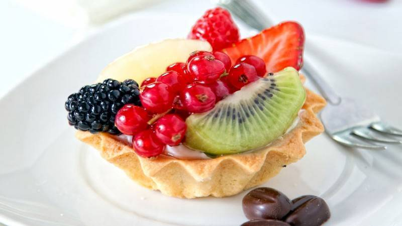 Тарталетка с фруктами