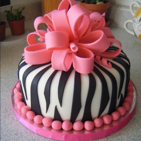 торт зебра из мастики