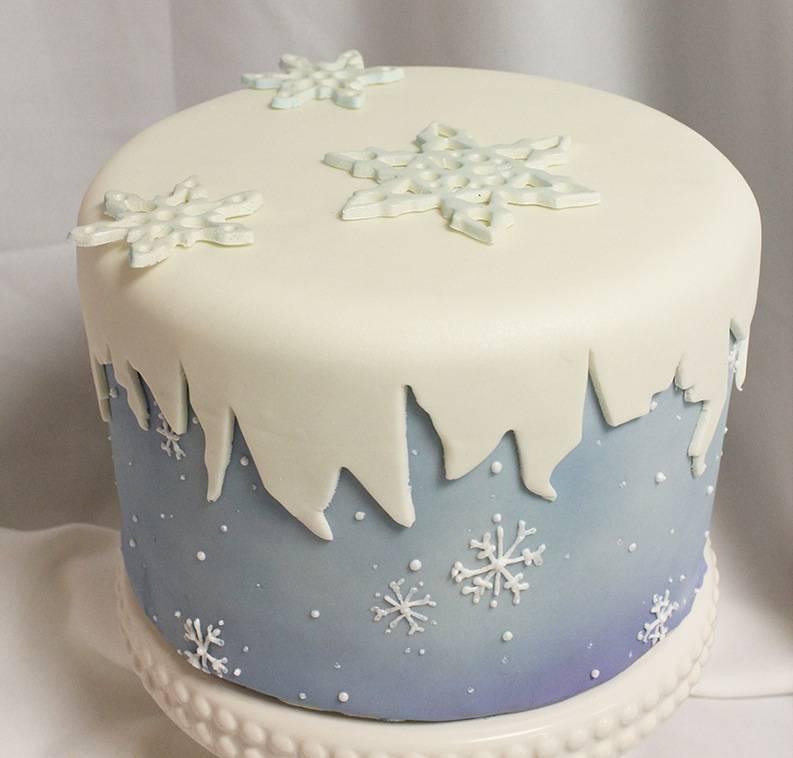 Новогодний торт с мастикой